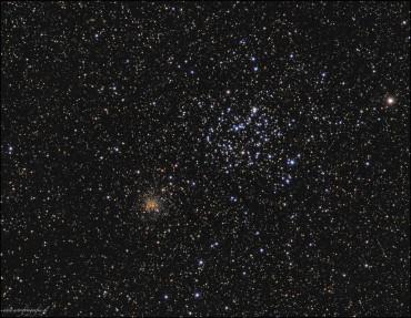 M35 oraz NGC2158 – gromady w Bliźniętach
