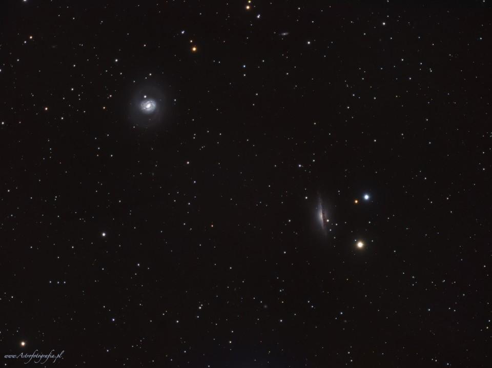 M77 + NGC1055