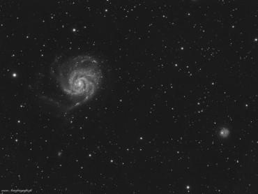 M101 – galaktyka Pinwheel wraz z okolicami…