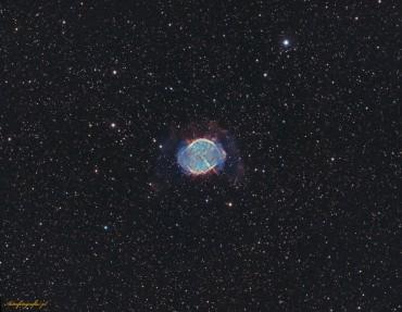 M27 – w paśmie tlenu (OIII) oraz wodoru (Ha)