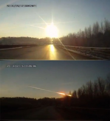 Chelyabinsk – prawdopodobnie największy zarejestrowany upadek meteorytu od 100 lat!