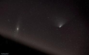 Kometa spotyka się z M31