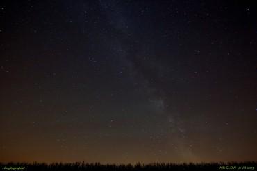 Pierwsza noc astronomiczna a na niebie zielono…