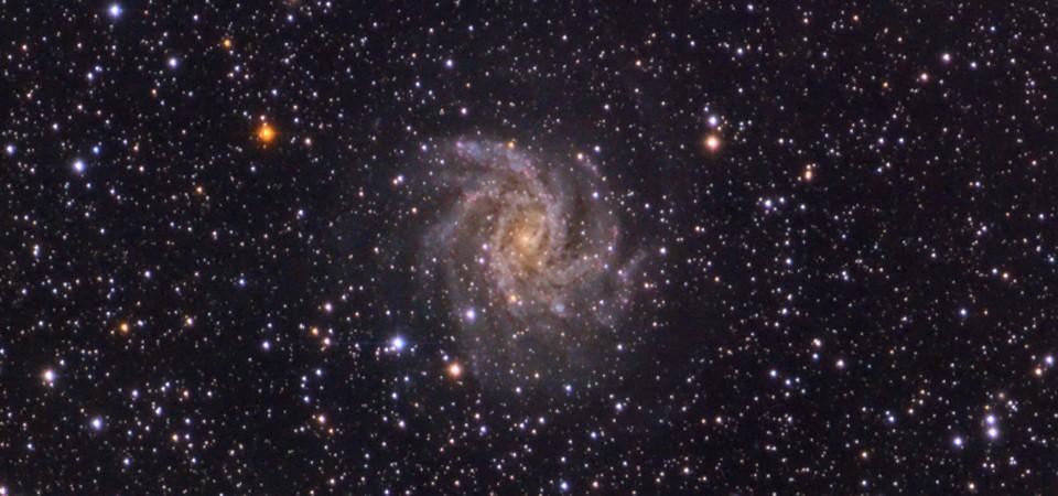 Galaktyka NGC6946 i jej sąsiadka gromada NGC6939
