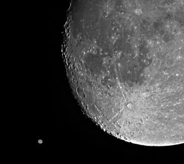 Księżyc zdjęcia z negatywu!