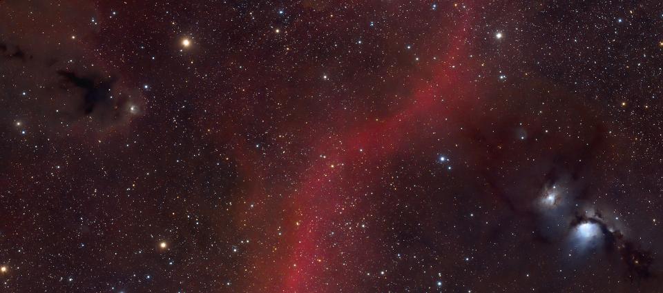Messier 78 i jej pyłowo wodorowe okolice