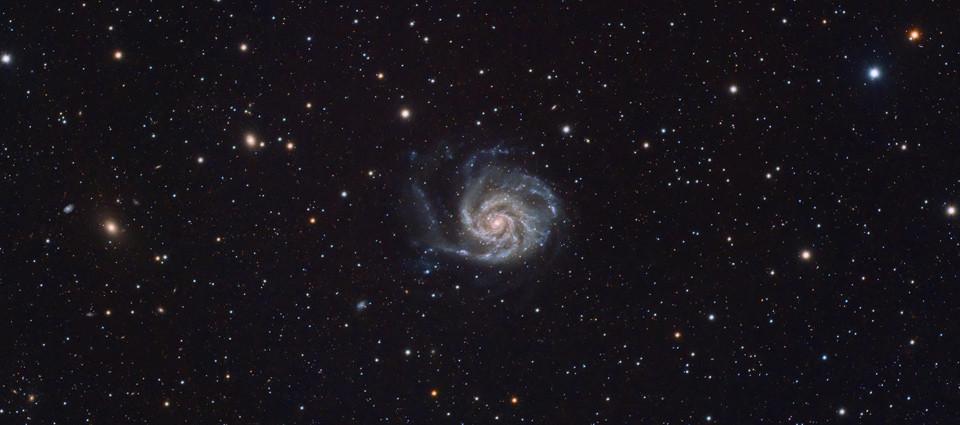 Galaktyka M101 i jej 419 sąsiadek!